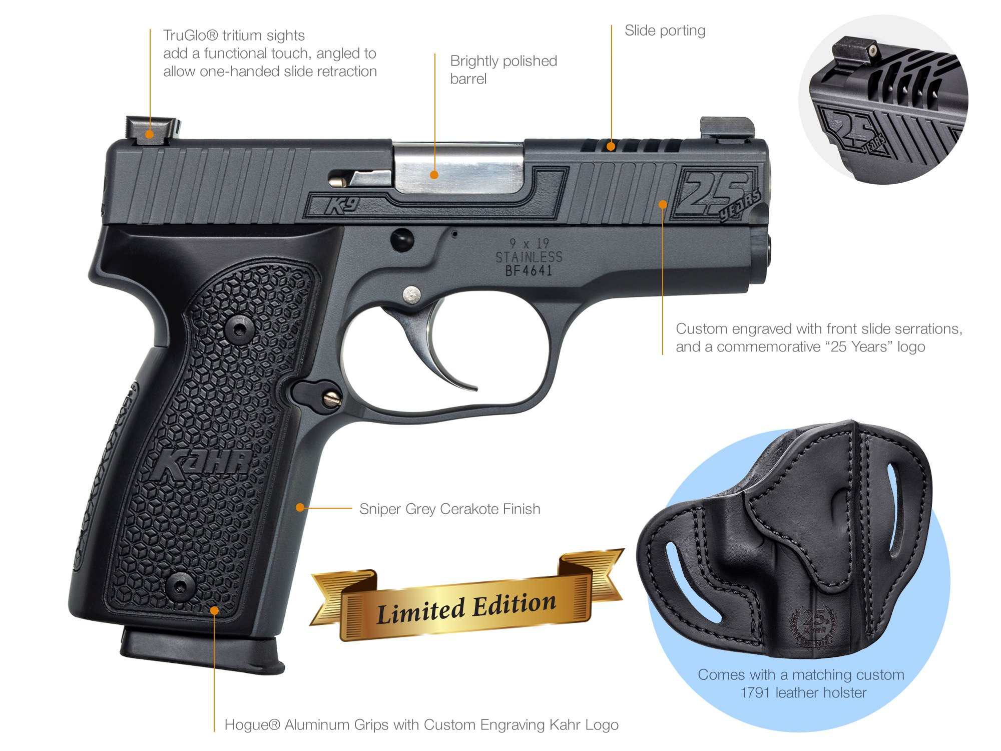 25th Anniversary K9 - Kahr Arms - A leader in technology and