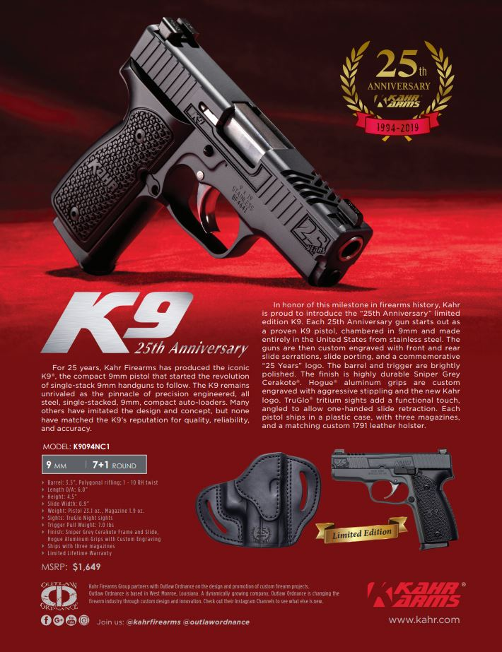 Brochures Manuals - Kahr Arms - A leader in technology and